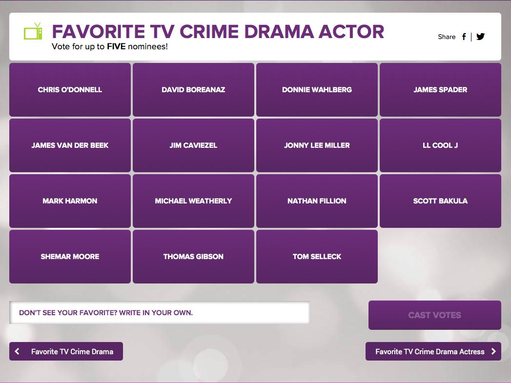 Favorite-TV-Crime-Drama-Actor-PCA-Step-1
