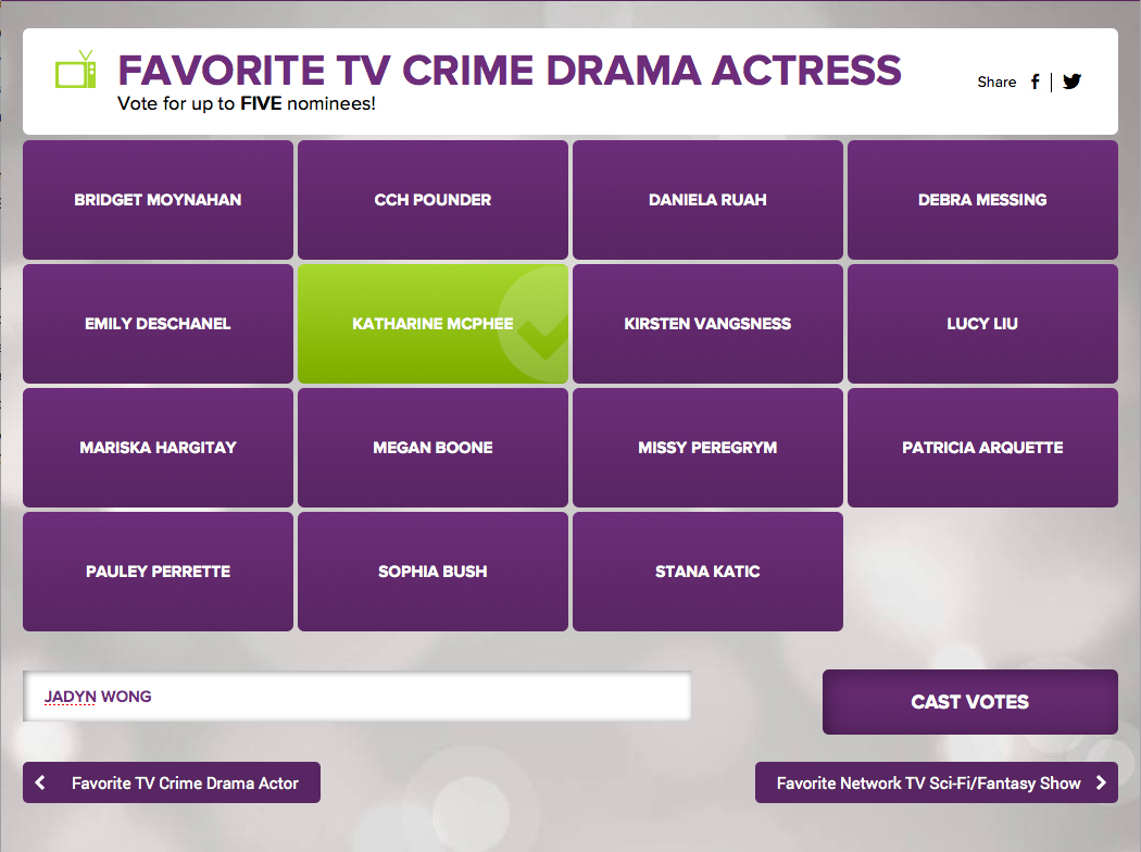 Favorite-TV-Crime-Drama-Actress-PCA-Katharine-McPhee